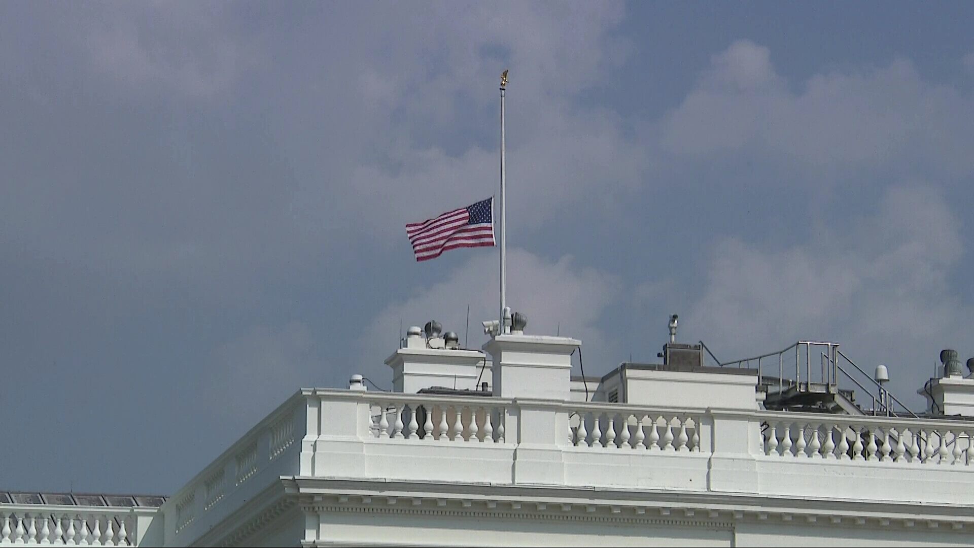 Admirable Amid Criticism White House Flag Lowered Again For John Download Free Architecture Designs Scobabritishbridgeorg
